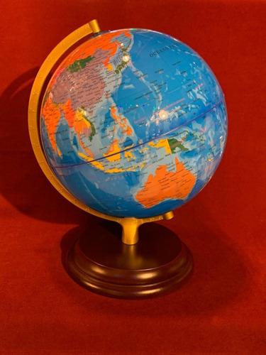 globo terraqueo 25 cm base de madera