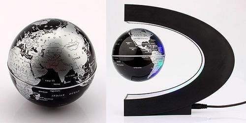 globo terraqueo flotante magnetico decoración led escritorio