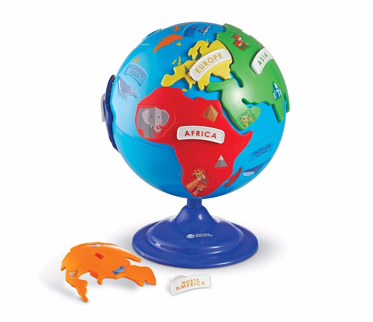 globo terraqueo rompecabezas 14 piezas learning resources