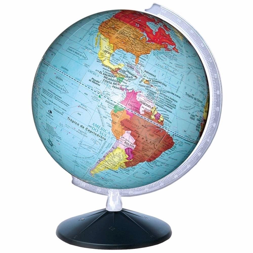 Globo Terrestre Gira Planisferio Escolar Mapa Atlas ...
