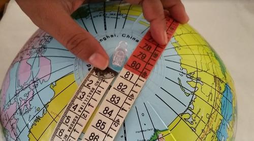 globo terrestre inflável mapa mundi 80cm de circunferência