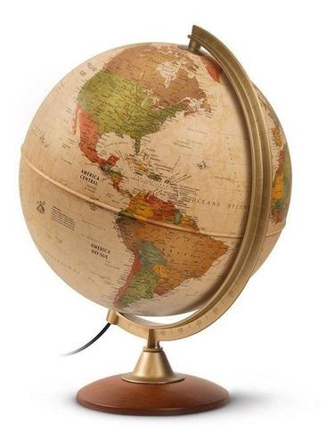globo terrestre vintage grande 30cm iluminado antigo colombo