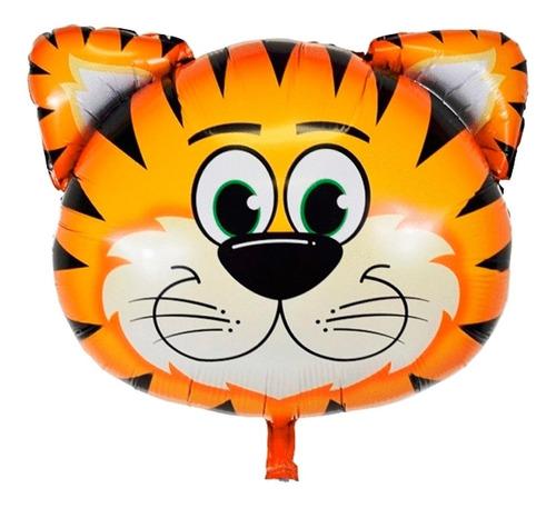 globo tigre metalizado 9 pulgadas animales - ciudad cotillón