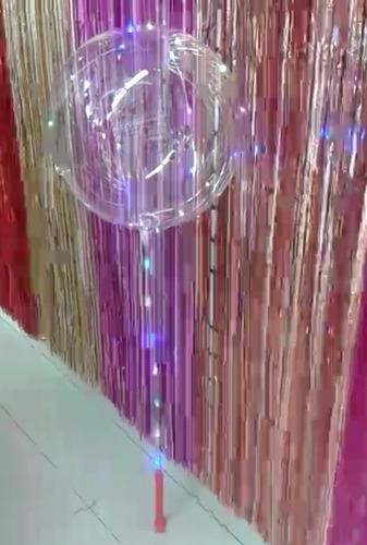globo transparente tipo burbuja con luces