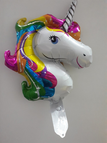 globo unicornio 55 cm valvula autosellable