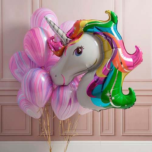 Globo unicornio 83 cm x 73 cm en mercado libre for Decoracion para pared unicornio