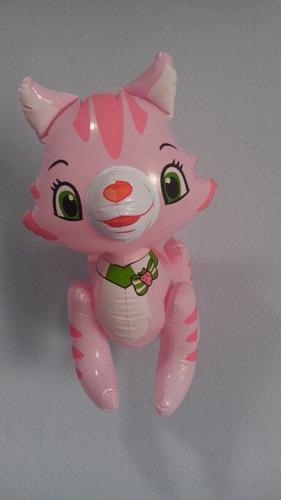 globos 4 inflables gato gatita rosita fresita 45cm.la piñata