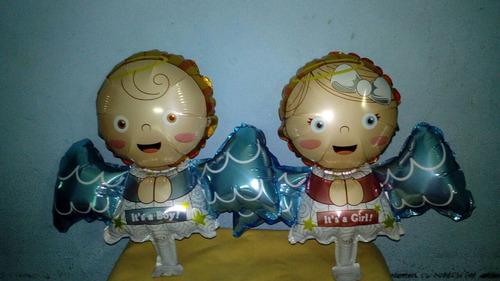 globos angelitos ideal para baby shower,bautismo,comunión