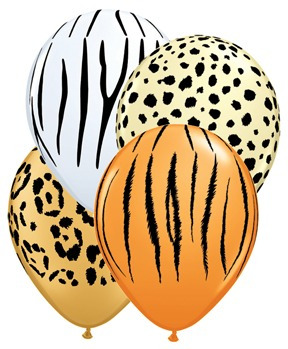 globos animal print y flores bs.1600