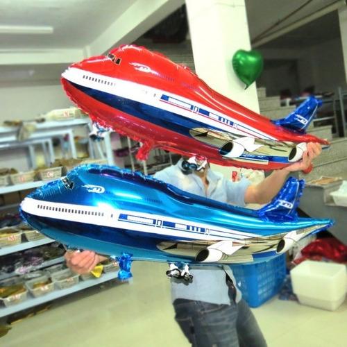 globos aviones gran tamaño 75cm ( apto helio o aire )