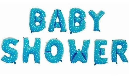 globos baby shower 45.72 cm metalizados puede inflar con he