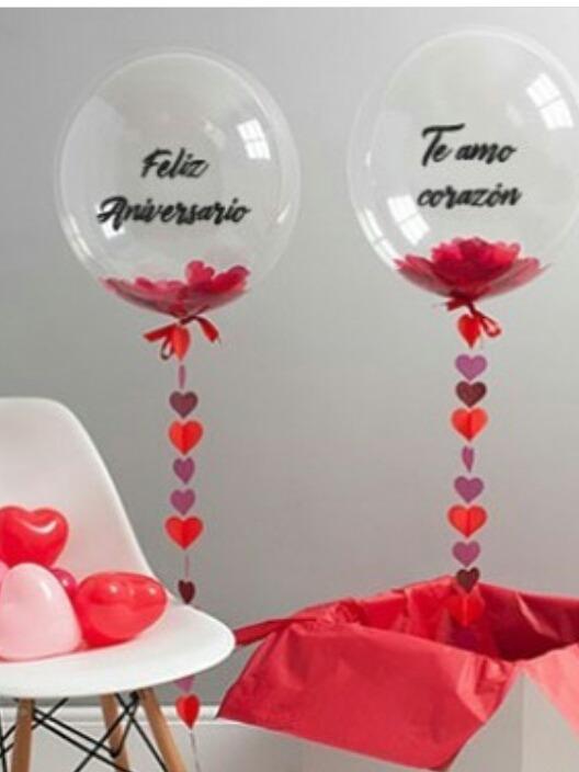 Globos Burbuja Personalizado Con Helio Cumple Bautismo Amor 650