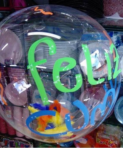 globos burbuja personalizar transparente aprox 45cm