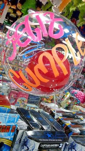 globos burbuja transparentes para personalizar x 30 cm