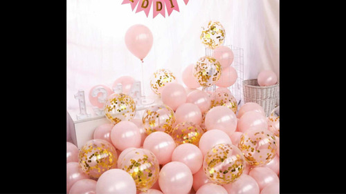 globos con confite metalizados