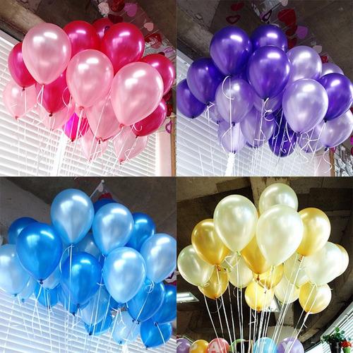 globos con helio  + cinta de colores!! valor por unidad