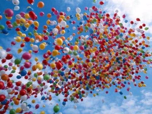 globos con helio graduación eventos