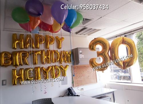 globos con helio letras numeros lima cono norte