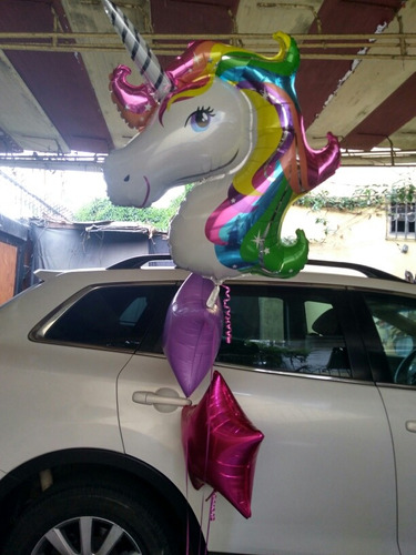 globos con helio, letras, numeros, metálicos, unicornios