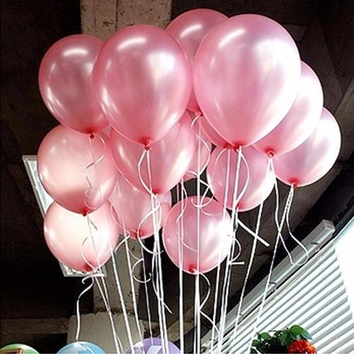 globos con helio perlados de 12 con cinta x 1 unid.belgrano