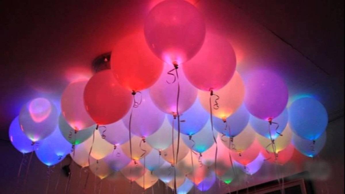 Globos con helio y luz r tmica de excelente calidad - Llenar globos con helio ...