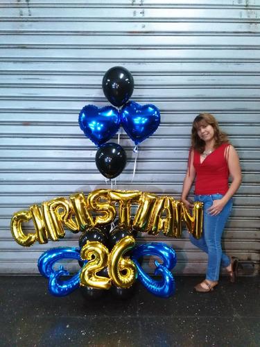 globos con helio y personalizados, decoraciones en general