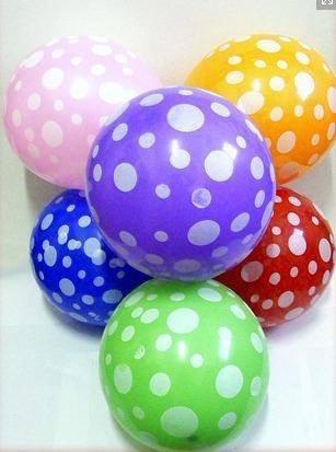 globos con lunares 25 unidades
