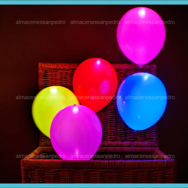 Globos con luz led para fiestas unicos 10 piezas for Donde comprar globos