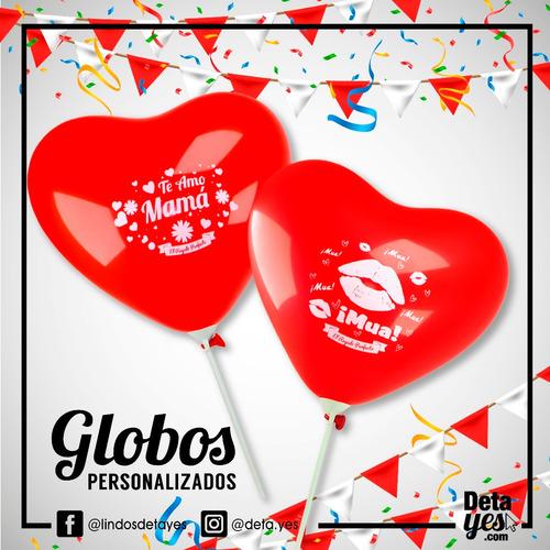 globos corazón personalizados r12 x 12 unds