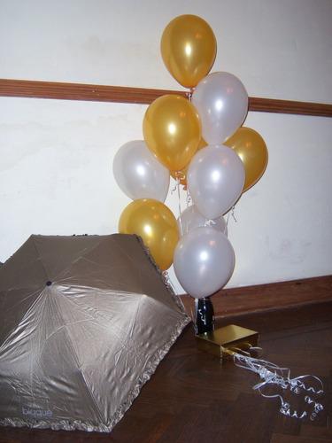 globos de 12 pulgadas con helio lisos perlados