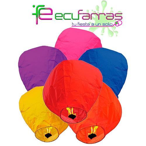 globos de aire caliente (globos del deseo)