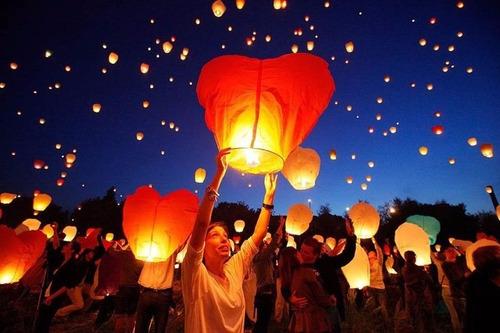 globos de aire caliente globos del deseo lampara luz farol