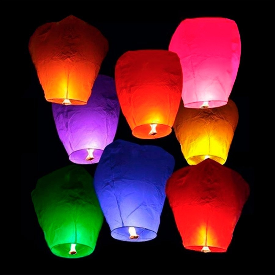 Globos de cantoya entrega inmediata envio gratis en de for Como hacer que los globos se queden en el techo