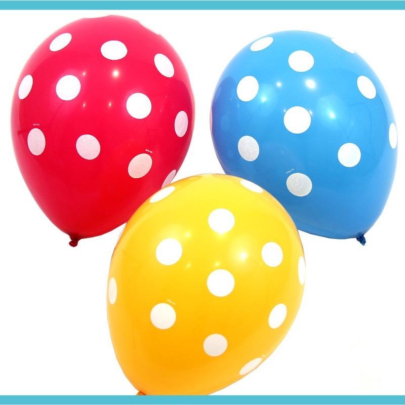 Globos de colores con puntitos inflalos con aire o helio - Gas helio para globos precio ...