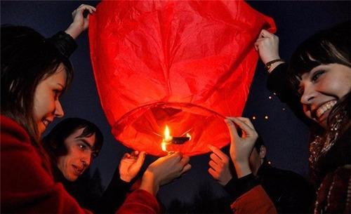 globos de deseos chinos de aire caliente celebraciones