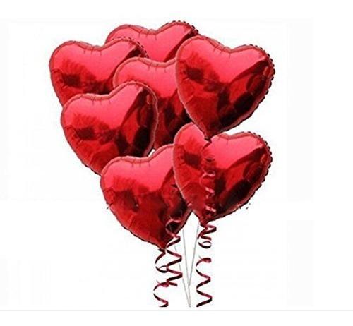 globos de helio de la hoja del corazón de pixnor 10pcs rojo