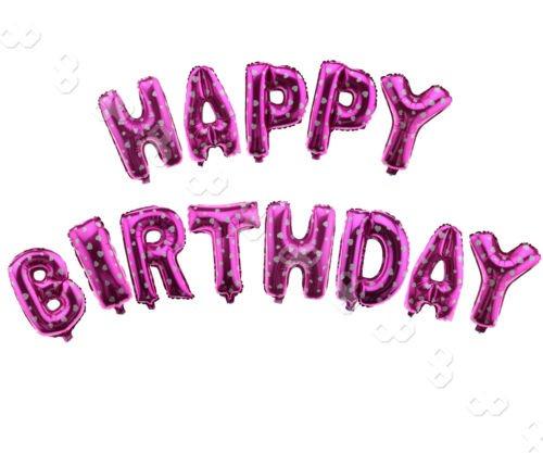 globos de la hoja las letras azules  feliz cumpleaños  para