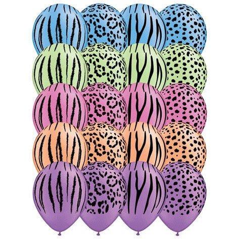 globos de látex 11 safari alrededor de neón