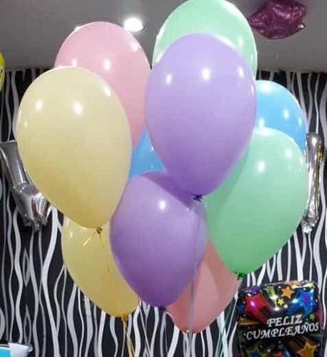 globos de latex pateles x 10 unidades