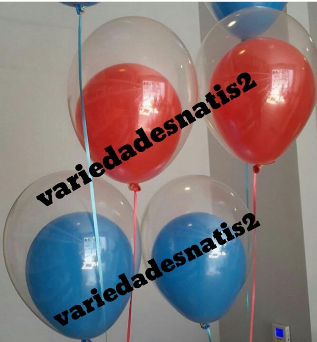 Globos de latex transparentes englobar decoraciones for Donde comprar globos
