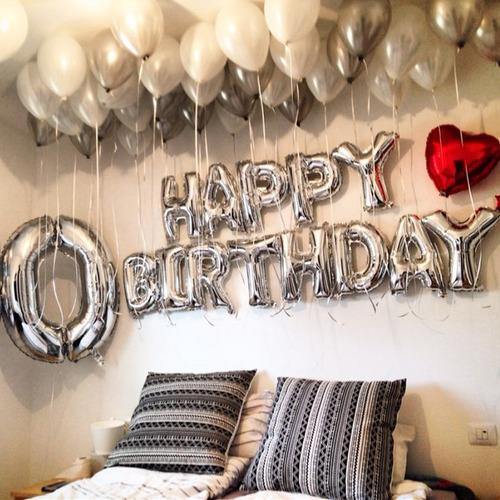 globos de letras y numeros 35 cm reales - no requieren helio