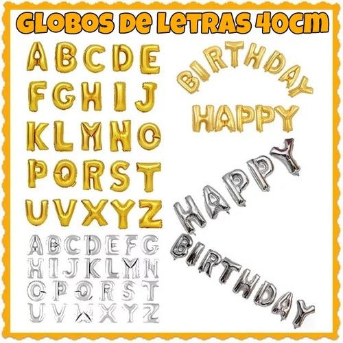 globos de letras y numeros 40 cm reales - no requieren helio