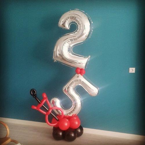 globos de letras y numeros oferta / 30cm alto