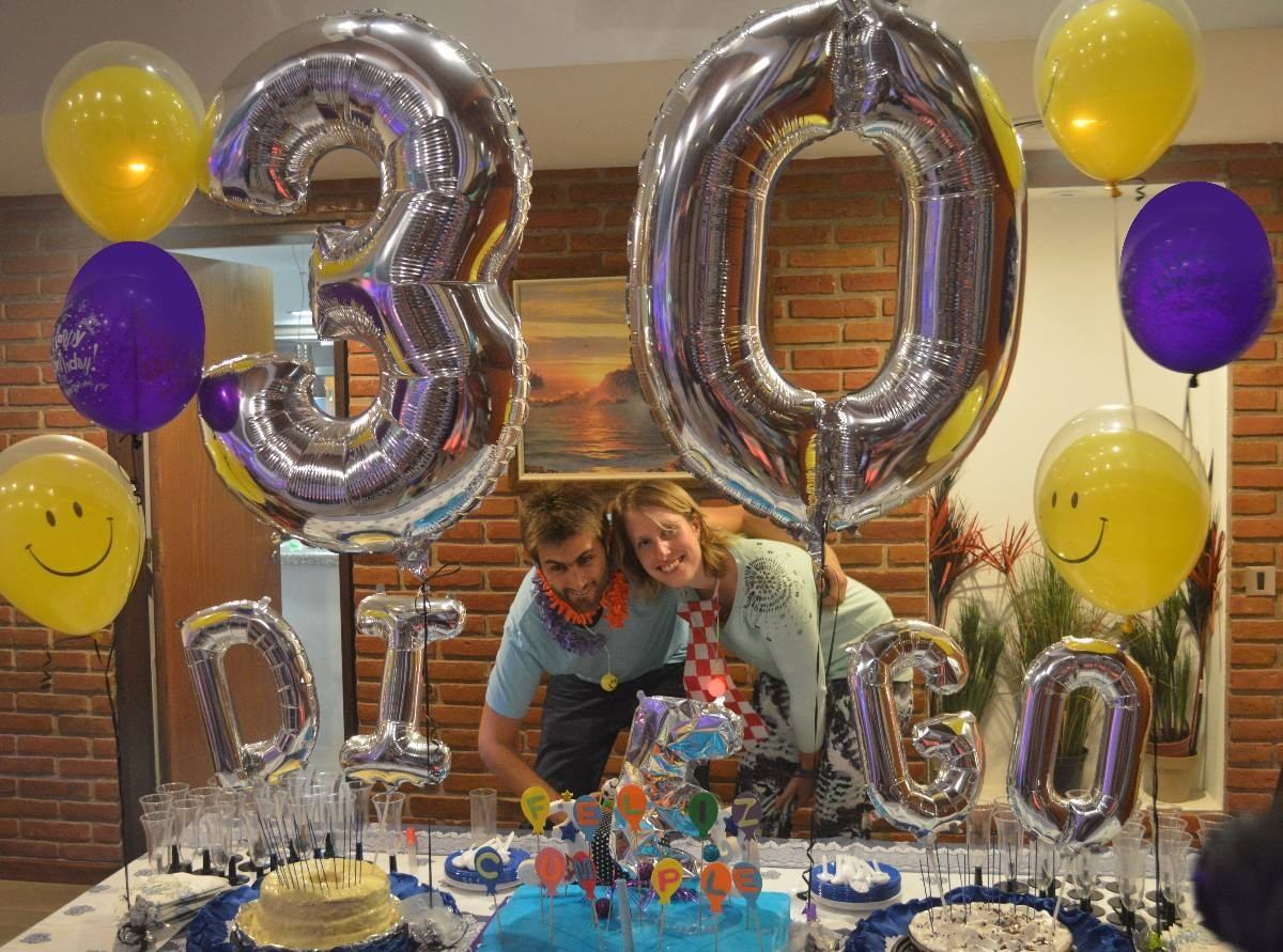 Globos de numeros metalizados 80 cm bs en for Donde comprar globos