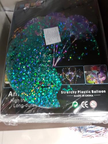 globos de polietileno burbuja rellenos transparentes 45cm