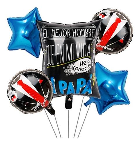 globos dia del padre 10 kits con 5 globos c/u de 18 y 20