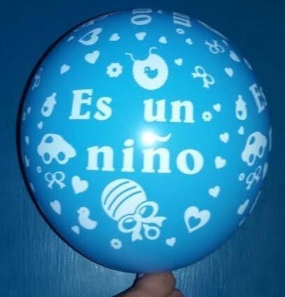globos estampados es niño niña r12 baby shower sorpresa 10un