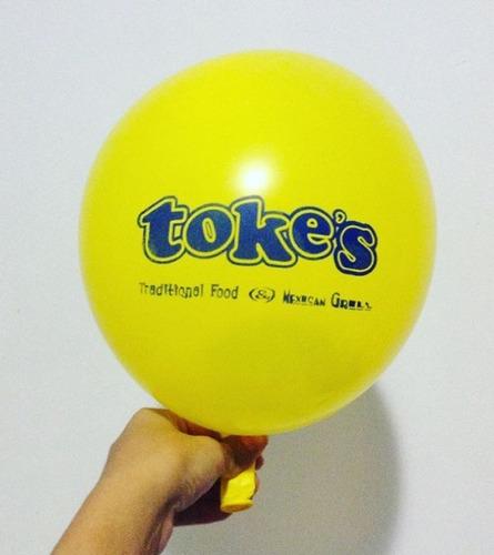 globos estampados personalizados 100 unidades