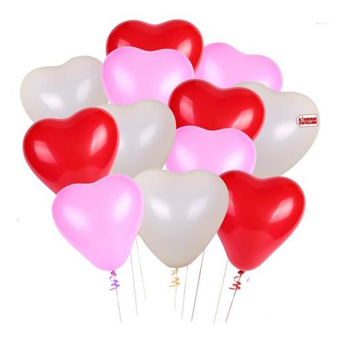 globos forma corazón candela x 12 - ciudad cotillón