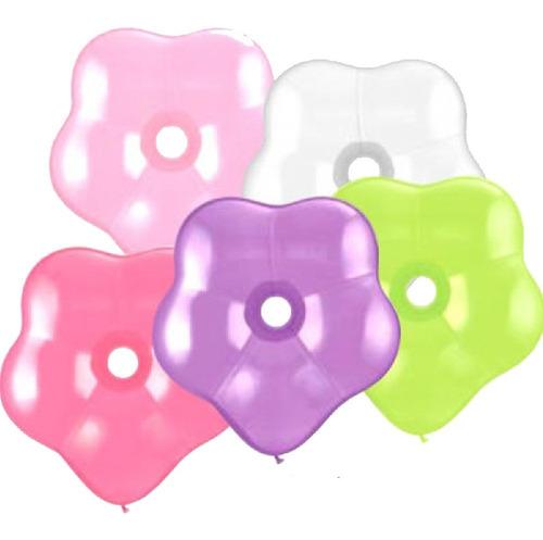 globos forma flor candela x 12 - ciudad cotillón